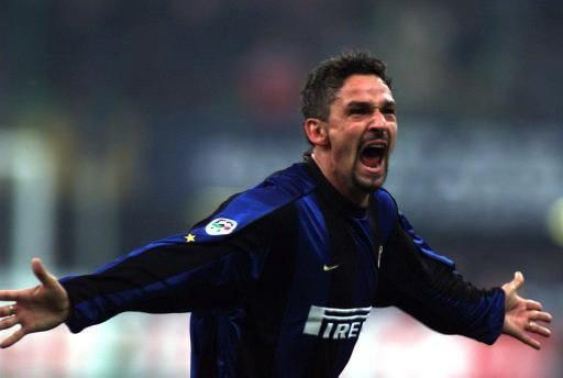 Roby Baggio con la maglia dell'Inter
