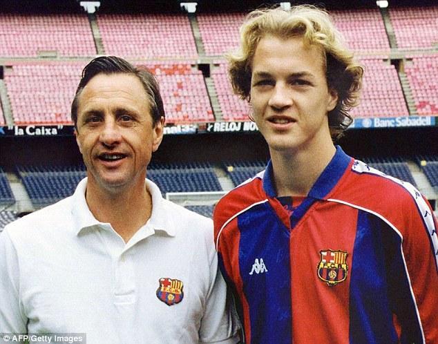 Cruyff e figlio