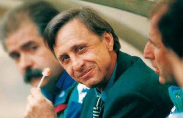 Cruyff in panchina