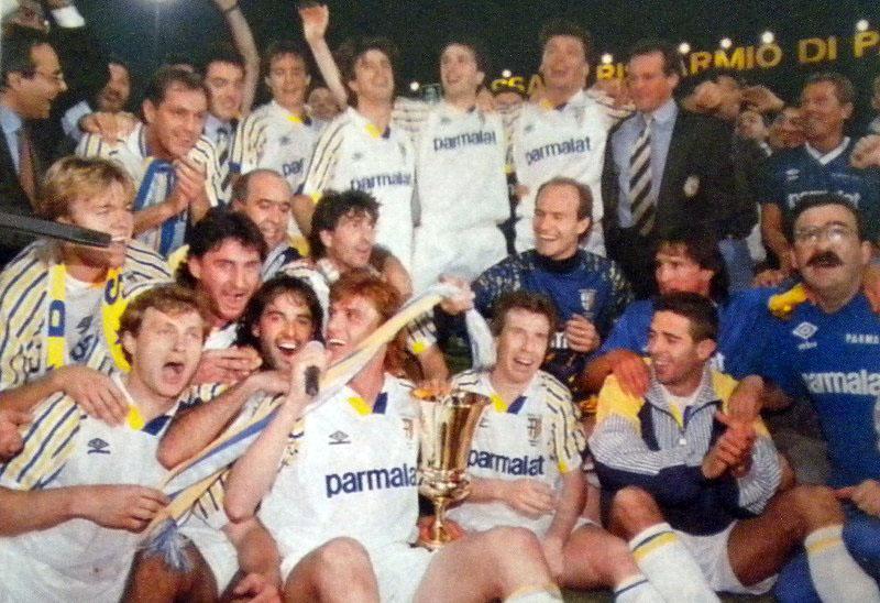 Primo trofeo: la Coppa Italia 91-92