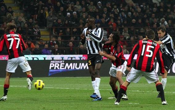 Gol di Del Piero al Milan
